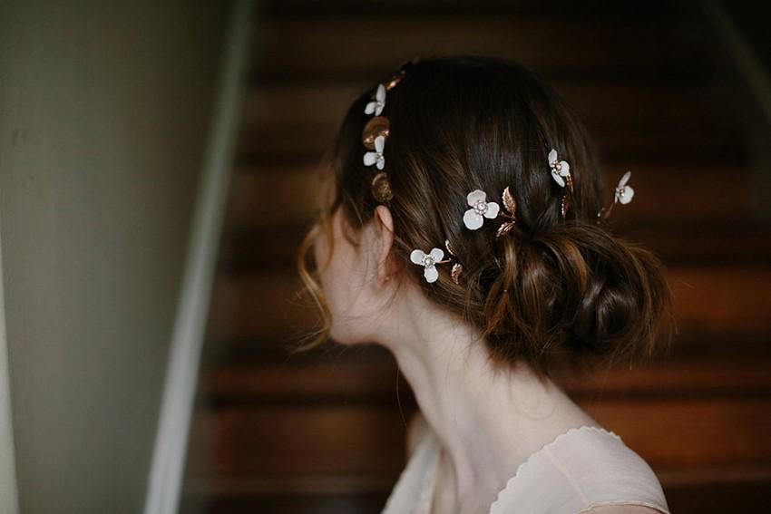 Rose Gold Bridal Hair Accessories from Erica Elizabeth Designs
