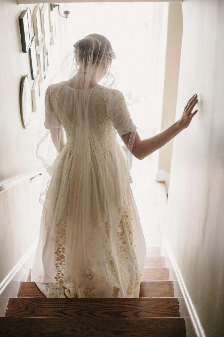 Vintage Inspired Bridal Veil from Erica Elizabeth Designs