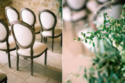 Indoor Wedding Ceremony Decor at Sunstone Winery // Photography ~ Rachel Solomon Photography