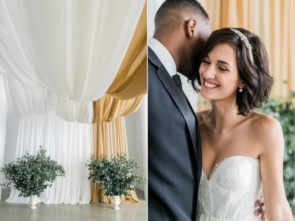 Wedding backdrop of drapes // Photography ~ Alexis June Weddings