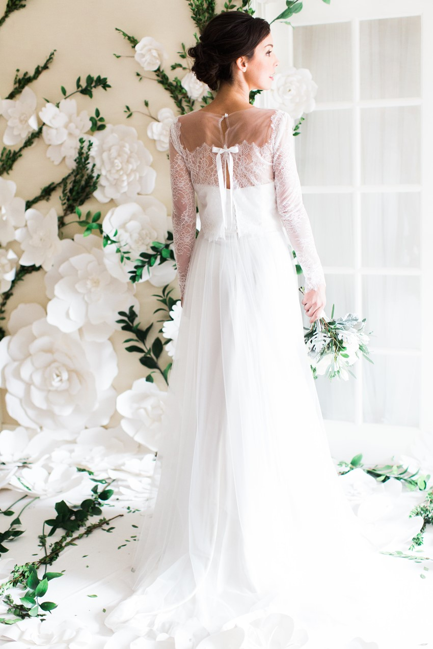 Rose & Delilah's Diana Wedding Dress with Lace Jacket