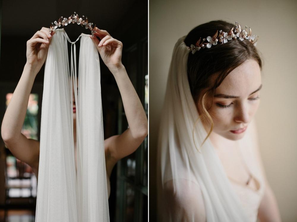 Rose Gold Bridal Headpiece from Erica Elizabeth Designs