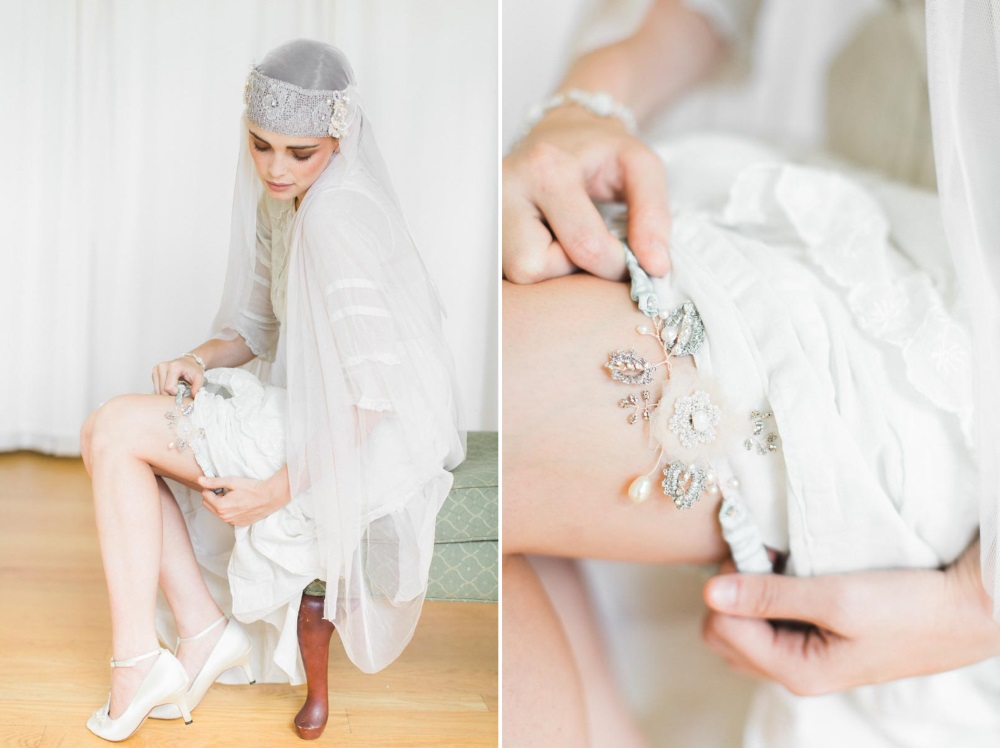 Vintage Inspired Bridal Garter from Edera Jewlery