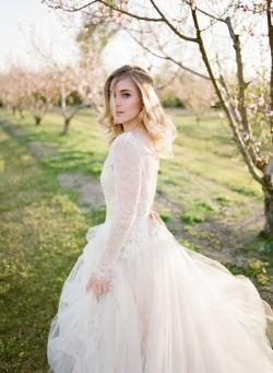 Beautiful Blush Wedding Dress // Photography ~ Archetype