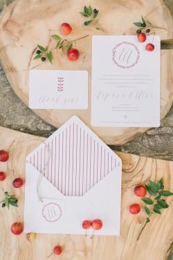 Romantic Boho Autumn Wedding Stationery // Photography ~ Anna Roussos Photography