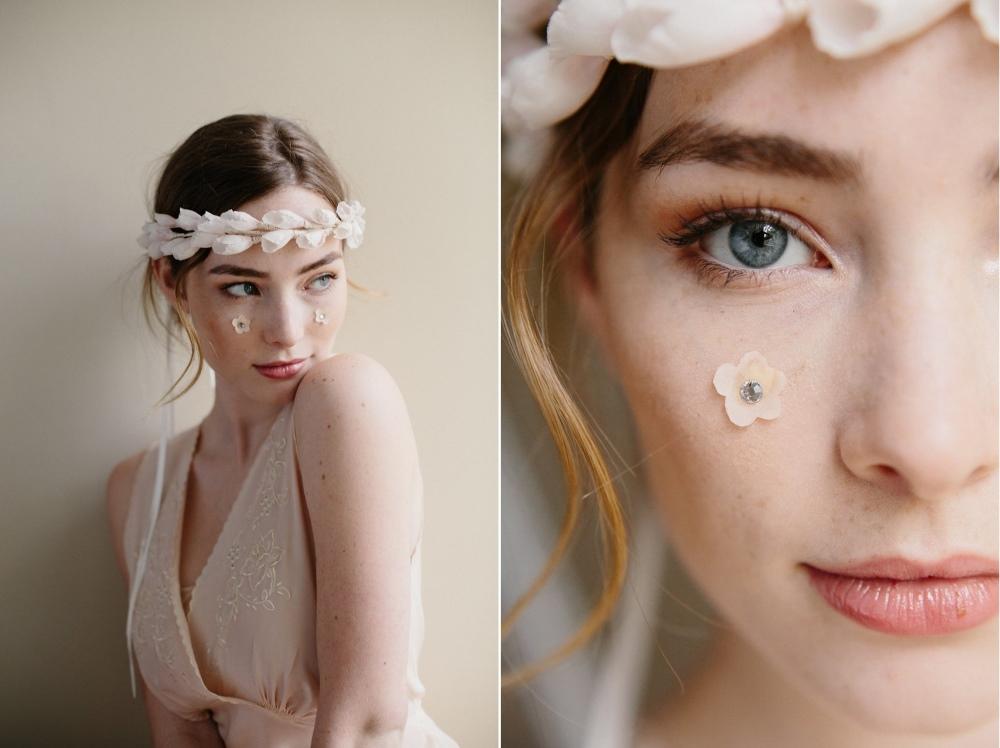 Delicate Bridal Flower Crown from Erica Elizabeth Designs