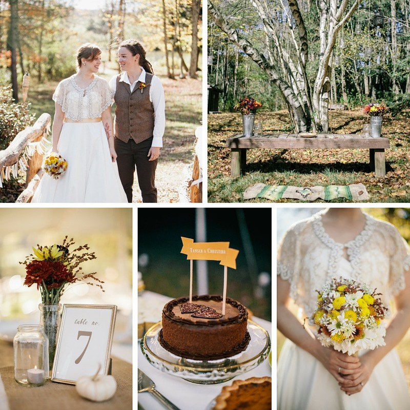 A Vintage Rustic Autumn Wedding // Photography ~ Emily Wren Photography