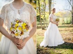 DIY Wildflower Autumn Bridal Bouquet // Photography ~ Emily Wren Photography