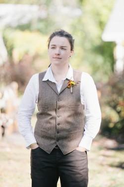 Rustic Autumn Gay Bride // Photography ~ Emily Wren Photography