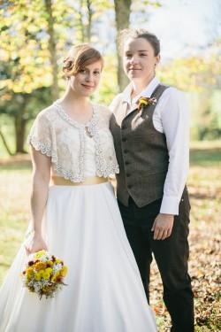 Rustic Autumn Gay Wedding // Photography ~ Emily Wren Photography