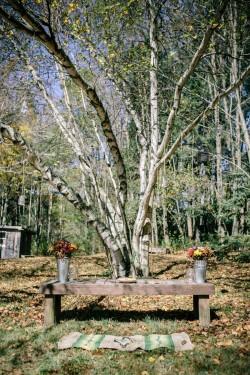 Outdoor Autumn Wedding Ceremony // Photography ~ Emily Wren Photography