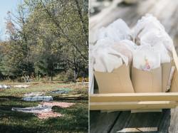 Outdoor Rustc Autumn Wedding Ceremony // Photography ~ Emily Wren Photography