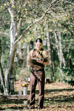 Autumn Outdoor Wedding Ceremony // Photography ~ Emily Wren Photography