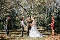 Rustic Autumn Outdoor Wedding Ceremony // Photography ~ Emily Wren Photography