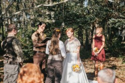 Rustic Autumn Outdoor Gay Wedding Ceremony // Photography ~ Emily Wren Photography
