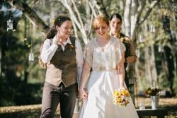 Rustic Autumn Outdoor Gay Wedding // Photography ~ Emily Wren Photography