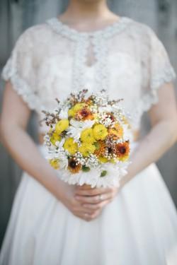 Wildflower Autumn Bridal Bouquet // Photography ~ Emily Wren Photography
