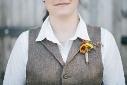 DIY Wildflower Autumn Boutonniere // Photography ~ Emily Wren Photography