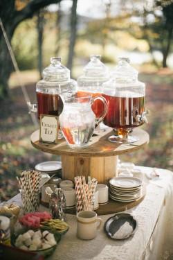Autumn Wedding Drinks Bar // Photography ~ Emily Wren Photography