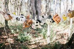 Animal masks // Photography ~ Emily Wren Photography