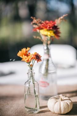 DIY Autumn Wildflower Wedding Centrepiece // Photography ~ Emily Wren Photography