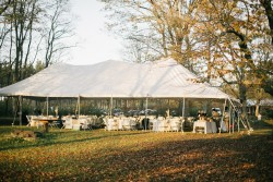 Rustic Autumn Wedding Marquee Reception // Photography ~ Emily Wren Photography