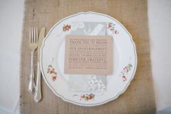 DIY Autumn Wildflower Wedding Place Setting // Photography ~ Emily Wren Photography