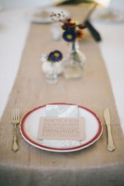 DIY Autumn Wildflower Wedding Place Setting// Photography ~ Emily Wren Photography