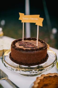 Chocolate Wedding Cake // Photography ~ Emily Wren Photography