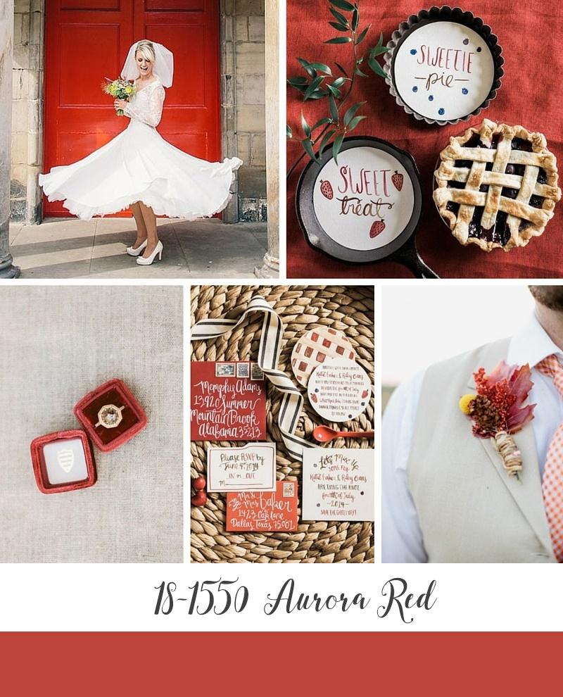 Pantone's Top 10 Wedding Colours for Autumn 2016 - Aurora Red
