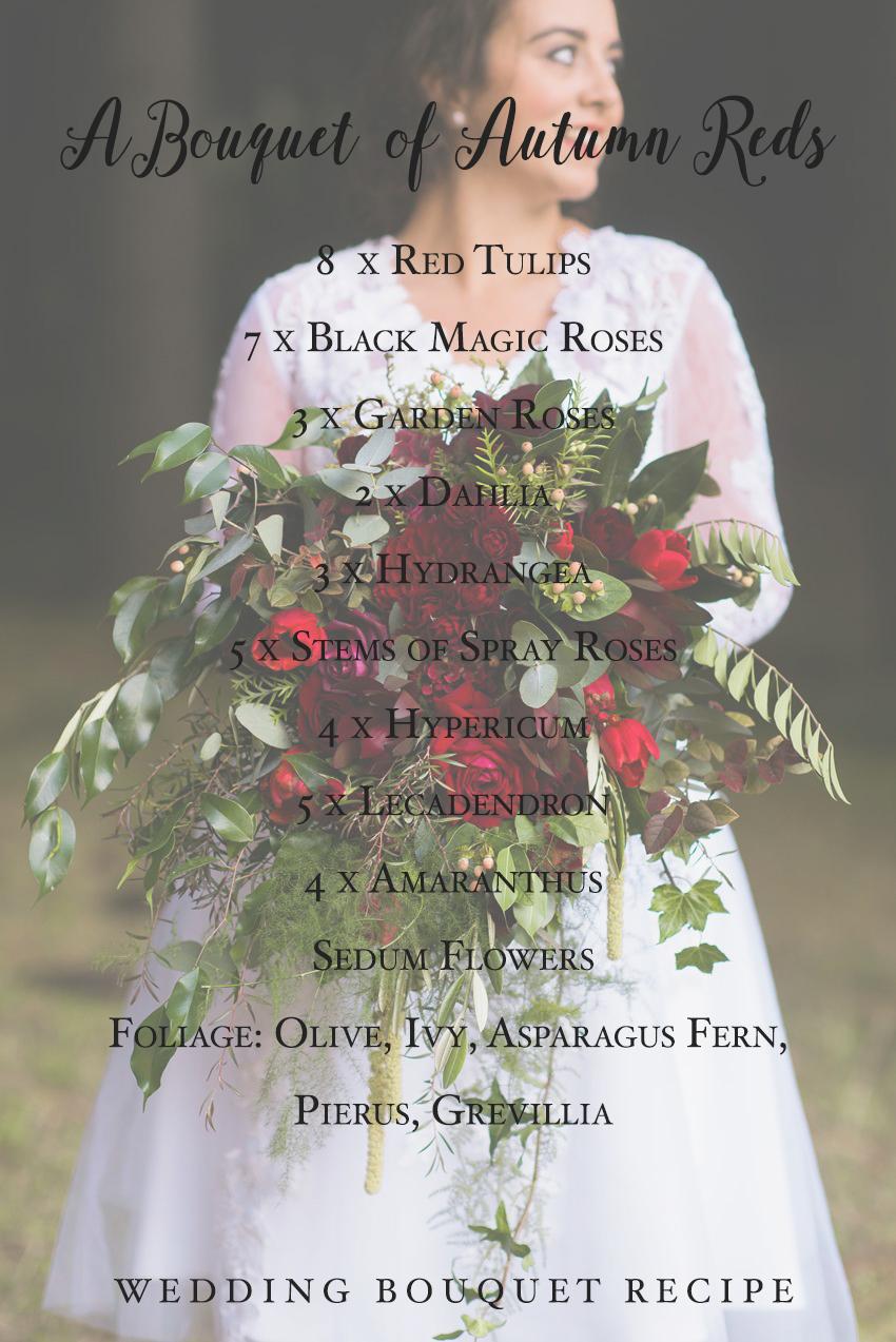 Red Autumn Bridal Bouquet Recipe