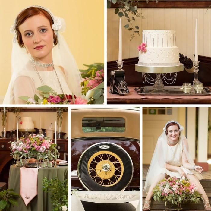Miss Fisher Inspired Art Deco Wedding Shoot