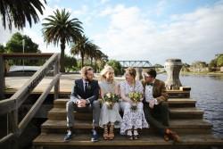 Boho Vintage Mismatched Bridal Party