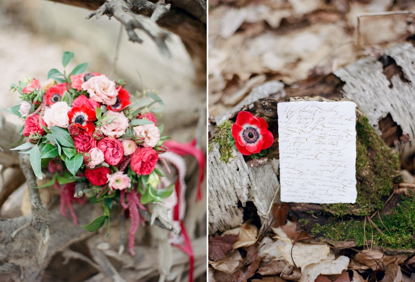 Romantic Red Bridal Bouquet// Photography ~ Kurtz Orpia Photography