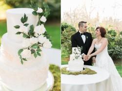Elegant White & Green Garden Wedding Cake // Photography ~ Sharmila Photography
