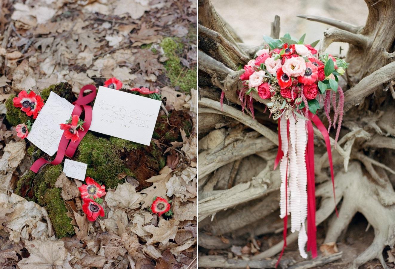 Romantic Red Bridal Bouquet // Photography ~ Kurtz Orpia Photography