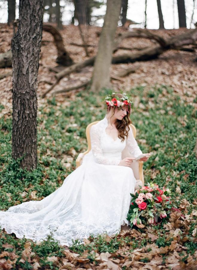 Woodland Bridal Shoot // Photography ~ Kurtz Orpia Photography