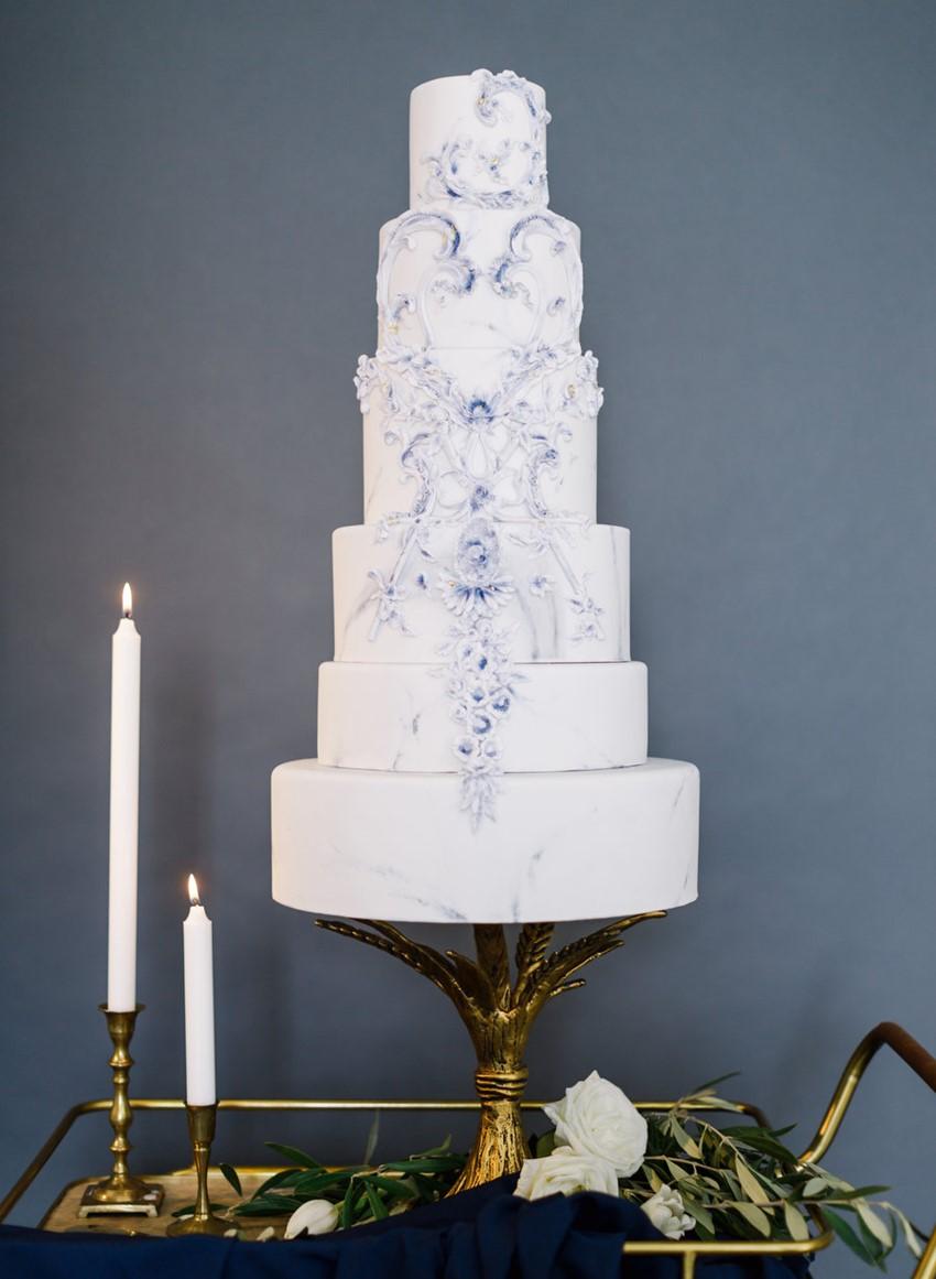 Elegant Modern Vintage Wedding Cake // Photography ~ Artiese Studios