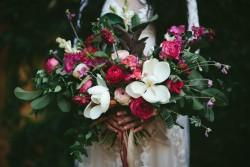 Boho Pink Bridal Bouquet // Photography ~ White Images
