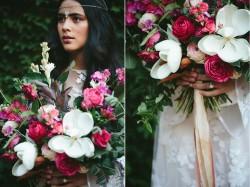 Boho Magnolia Bridal Bouquet // Photography ~ White Images