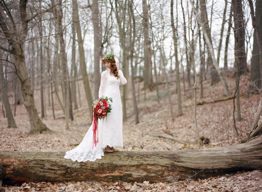 Romantic Woodland Bridal Shoot // Photography ~ Kurtz Orpia Photography