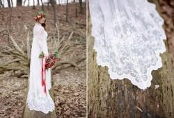 Long Sleeve Vintage Wedding Dress// Photography ~ Kurtz Orpia Photography