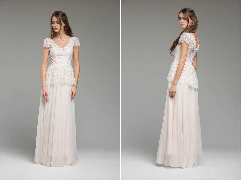 Sweet Polka Dot Wedding Dress 'Oriana' from Katya Katya Shehurina