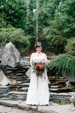 Romantic Jewel Toned Bridal Bouquet // Photography ~ Maria Lamb