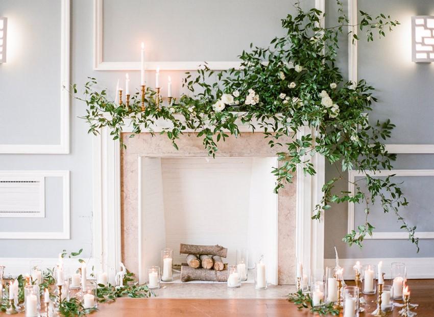 Romantic Indoor Wedding Ceremony // Photography ~ Artiese Studios