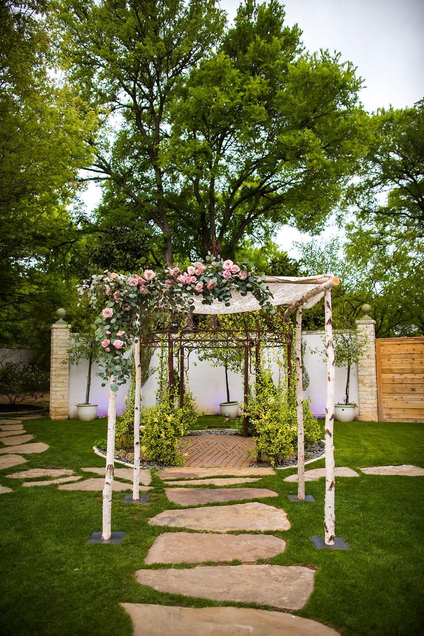Garden Wedding Birch Chuppah // Photography ~ Mike Reed Photo