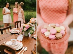 Romantic bridal Shower Tablescape & Yummy Macarons