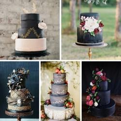 20 Breathtakingly Beautiful Black Wedding Cakes