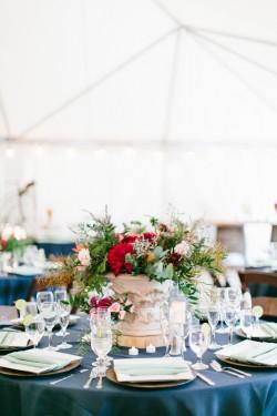 Romantic Jewel Toned Wedding Reception Decor // Photography ~ Maria Lamb