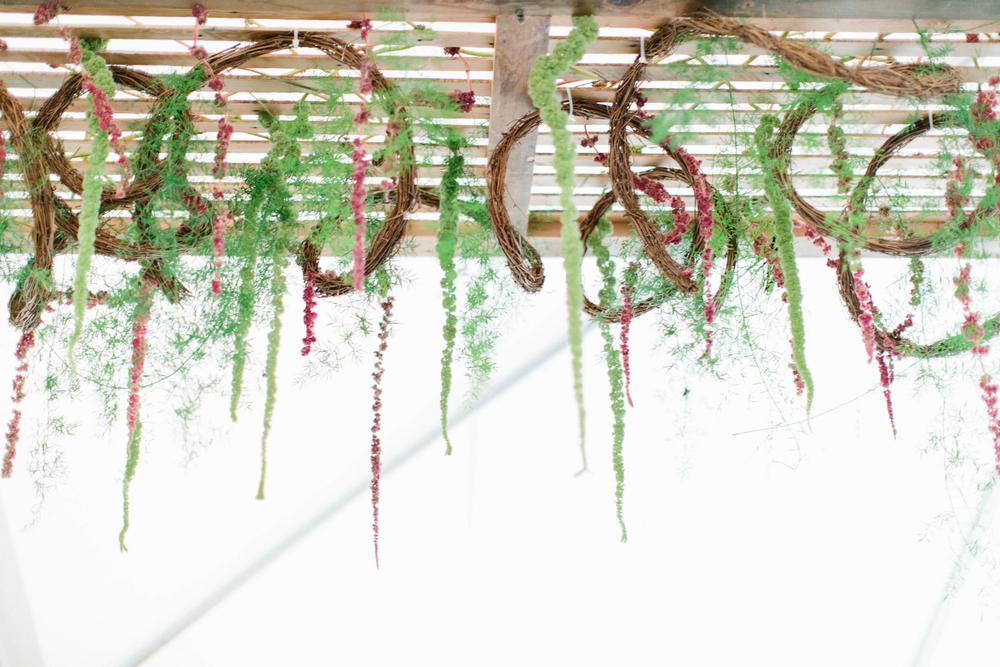 Stunning Hanging Floral Wedding Decor // Photography ~ Maria Lamb